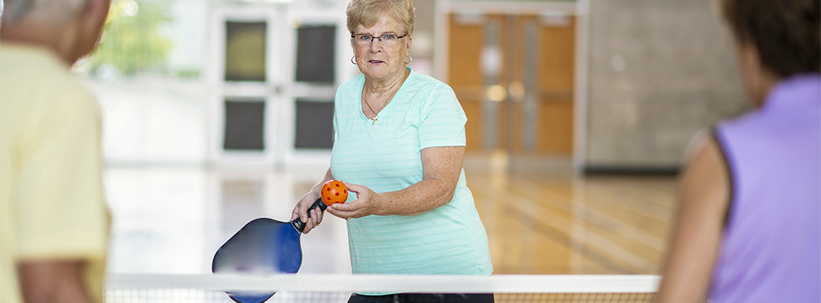 Elderly mixed double pickleball