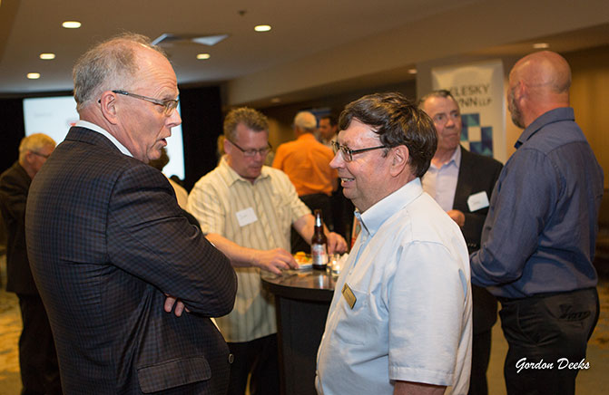 Golf-reception-and-silent-auction-attendees - Lester-Shore-with-Ken-Muggeridge
