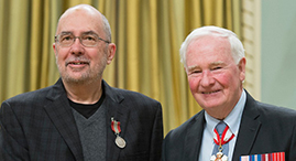 Neil Chymko (left), pictured with the Governor General of Canada, His Excellency the Right Honourable David Johnston